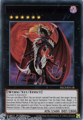 Picture of DLCS-EN118-P Number 24: Dragulas the Vampiric Dragon :: Purple :: Ultra Rare 1st Edition Mint YuGiOh Card