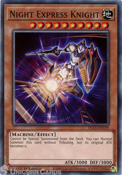 Picture of DLCS-EN139 Night Express Knight Common 1st Edition Mint YuGiOh Card