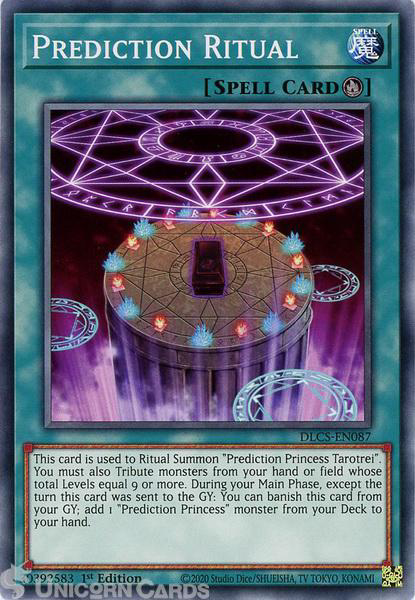 Picture of DLCS-EN087 Prediction Ritual Common 1st Edition Mint YuGiOh Card