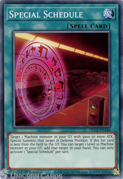 Picture of DLCS-EN140 Special Schedule Common 1st Edition Mint YuGiOh Card