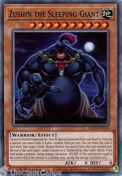 Picture of DLCS-EN114 Zushin the Sleeping Giant Common 1st Edition Mint YuGiOh Card