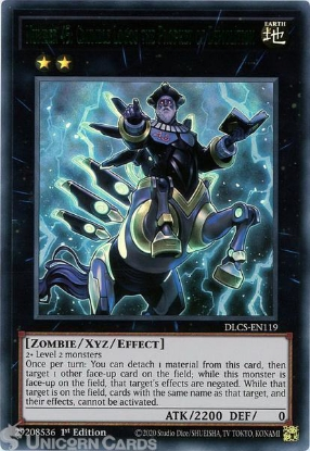 Picture of DLCS-EN119-G Number 45: Crumble Logos the Prophet of Demolition :: Green :: Ultra Rare 1st Edition Mint YuGiOh Card