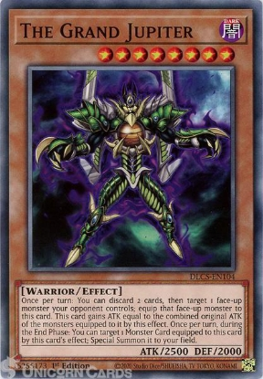Picture of DLCS-EN104 The Grand Jupiter Common 1st Edition Mint YuGiOh Card