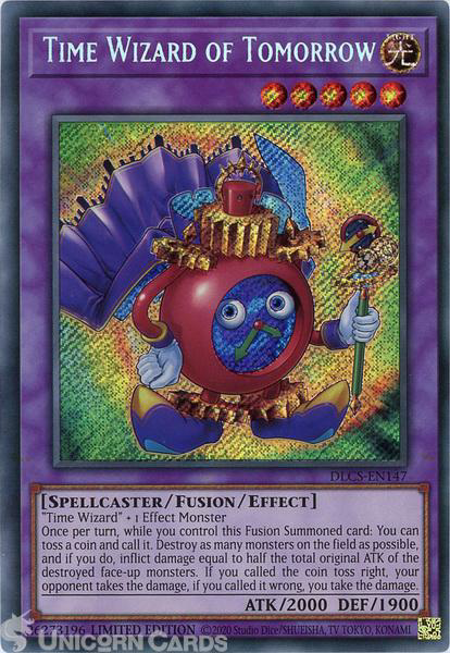 Picture of DLCS-EN147 Time Wizard of Tomorrow Secret Rare Limited Edition Mint YuGiOh Card